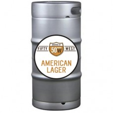 Fifty West American Lager 1/6 BBL