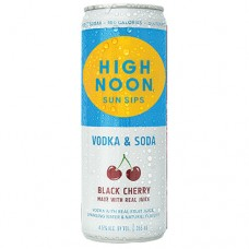 High Noon Black Cherry Vodka and Soda 4 Pack