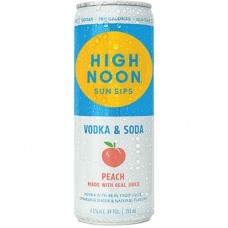 High Noon Peach Vodka and Soda 4 Pack