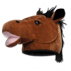Kentucky Derby Headware - Plush Horse Head Hat