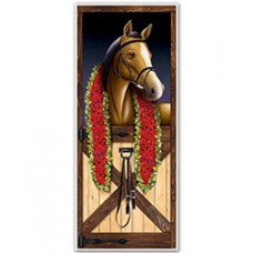 Kentucky Derby Decorations - Race Horse Door Cover