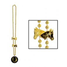 Kentucky Derby Wearable-Horse and Horseshoe Bead