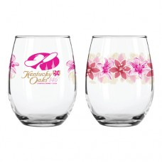 Kentucky Derby Glassware - 2020 Oaks Stemless Wine Glass