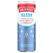 Smirnoff Seltzer Spiked Zero Red, White, and Berry 12 Pack