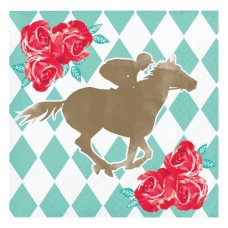 Kentucky Derby Tableware - Win Place Show Beverage Napkin