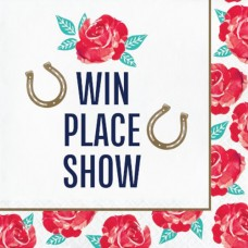 Kentucky Derby Tableware - Win Place Show Lunch Napkin