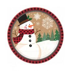 Winter Wonder Snowman Dessert Plate