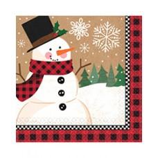 Winter Wonder Snowman Beverage Napkins