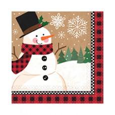 Winter Wonder Snowman Lunch Napkins
