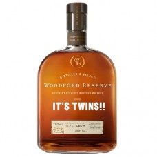 Woodford Reserve Bourbon It's Twins Engraved