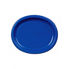 Bright Royal Blue Oval Plate