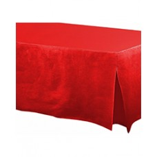 Apple Red Flannel-Backed Vinyl Fitted Table Cover